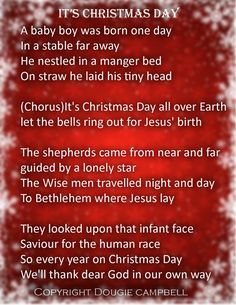 the lyrics to its christmas day the christmas song that was performed by choirs around - Song Last Christmas