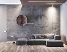 lounge area on Behance Apartment Interior, Interior Walls, Living Room Interior, Home Living Room, Living Room Designs, Living Room Decor, Modern Interior Design, Interior Architecture, Sofa Design