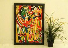 Modern Original Art by Alferd Halliday Art by alfredhallidayart Jazz Painting, Picasso Style, Jazz Club, Modern Art Paintings, Colorful Wall Art, Outsider Art, Cubism, Original Art, The Originals