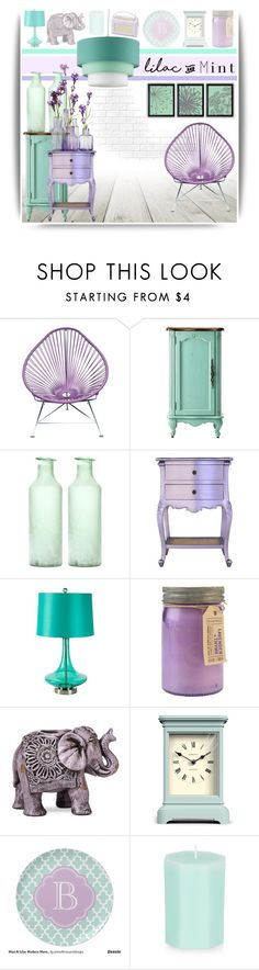 """Color Challenge: Lilac & Mint #3"" by emhenry ❤ liked on Polyvore featuring interior, interiors, interior design, home, home decor, interior decorating, Home Decorators Collection, Surya, Paddywax and Boho Boutique"