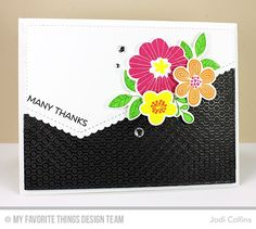 Bold Blooms Stamp Set and Die-namics, Lined Up Dots Background, Stitched Scallop Basic Edges Die-namics - Jodi Collins Scrapbooking, Scrapbook Cards, Cute Cards, Diy Cards, Cute Envelopes, Mft Stamps, Beautiful Handmade Cards, Mothers Day Cards, Card Sketches