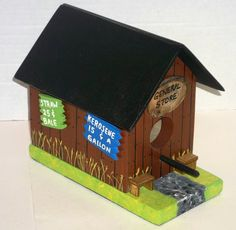 Lil Old Country General Store Birdhouse by dailycrossdesigns, $23.00