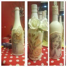 Decopage bottles