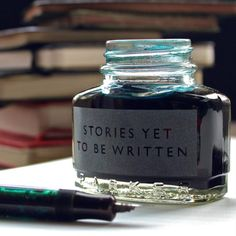 This gorgeous vintage style ink bottle has been hand etched by Vinegar and Brown Paper. It would make a perfect gift for the writerly types or aspiring author.
