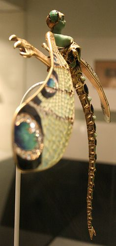 Art Nouveau Dragonfly Lady Brooch