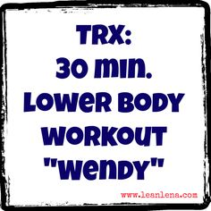 Lower Body TRX Workout will challenge strength, mobility and balance. Additional core focused exercises will make this workout even more fun! Trx Workout, Workouts, Suspension Training, Stay Fit, More Fun, Exercise, Health, Fitness, Legs