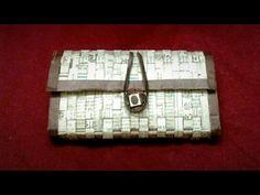 How to make a newspaper purse - YouTube
