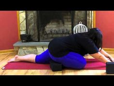**Plus Size Yoga Workouts** Pigeon Pose Modification for Larger Women! Yoga for Curvy Women
