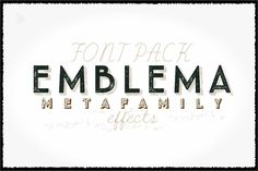 Emblema Metafamily. by graffistyling on Creative Market