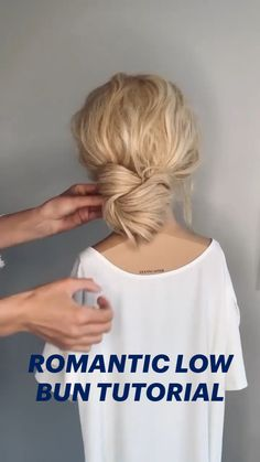 Easy Hairstyles For Long Hair, Up Hairstyles, Natural Hair Tips, Natural Hair Styles, Low Bun Tutorials, Hair Up Styles, Love Hair, Hair Videos, Hair Looks