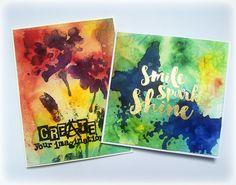 Colorful cards with Visible Image Stamps