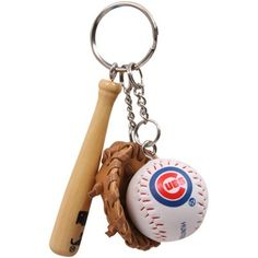 Chicago Cubs Baseball Gear Keychain