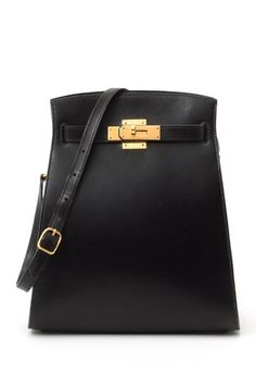 Vintage Hermes Kelly Sport GM (Stamp: Circle W, Gold Hardware) Shoulder Bag - Black by LXR on @HauteLook