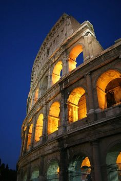 Colosseum at night Rome, #Italy