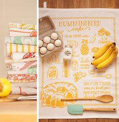 Hummingbird Cake Tea Towel