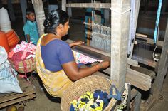 Manufacture of mats using recycled material from clothing factories, purchased using a micro finance loan.