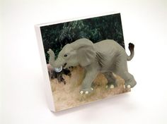 Elephant Light Switch or Dimmer Switch handmade by Candy Queen Designs
