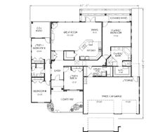 This adobe / southwestern design floor plan is 2308 sq ft and has 4 bedrooms and has 2 bathrooms. Flagstone Patio, Wood Patio, Brick Patios, Concrete Patio, Diy Patio, Upvc Patio Doors, Small Covered Patio, Mediterranean House Plans, Patio Makeover