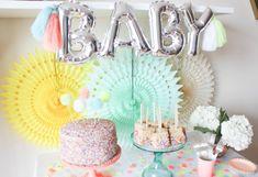 Pom Pom Baby Sprinkle — ariel loves Nursery Reading, Pom Pom Mobile, Pom Pom Baby, Baby Balloon, How To Make A Pom Pom, Party Pops, Rainbow Sprinkles, Chocolate Covered Pretzels, Wishes For Baby