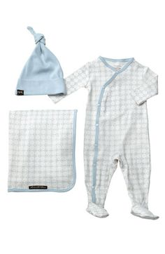 Petunia Pickle Bottom 'Snuggle' Footie, Blanket & Hat Set (Infant) | Nordstrom. Possible take home outfit