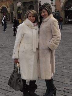 2 mink ladies. Prague.