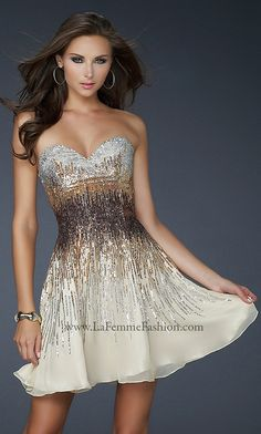 Sparkly gold and black beaded dress