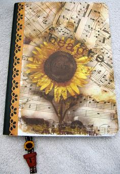 Journal Altered Composition Notebook by bakercreekstudio on Etsy
