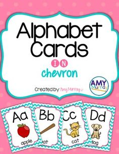 Alphabet and Letter Sound Cards pairs well with a FUN phonics program!  Find them here: https://www.teacherspayteachers.com/Product/Alphabet-Letter-Sound-Cards-in-chevron-2799140
