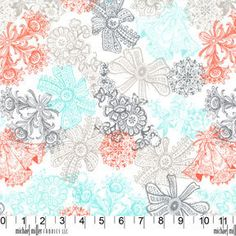Michael Miller Fabric - Wedding Collection - Love Lace in Sorbet (1 Yard) on Etsy, $9.95