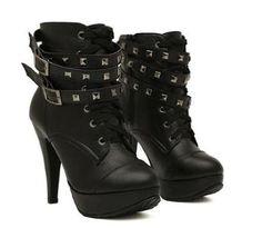 Details zu Tamaris halbhohe Stiefel Stiefeletten schwarz Gr 36 boots bootee black 34 hoch