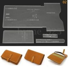 ee715ddc940 9 Types Acrylic Leather DIY Craft Wallet Case Stencil Template for  Leathercraft | eBay Handmade Leather