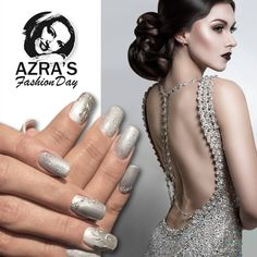 "abc nailstore präsentiert:  Azra's Fashion Day: backless gown Nailart ""glam night"" #nails #nailsdesign #nailart #glamnails #glitter #nailporn"