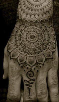 Hindu hand tattoo