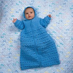 Cozy Baby Bunting Crochet Pattern ePattern - Leisure Arts