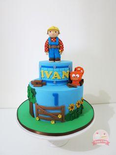 Bob the Builder cake! #bobthebuilder #cuppyandcake