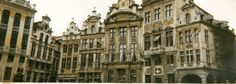 Panorama Shot of La Grande Place, Brussels Belgium (1) (April 2000)