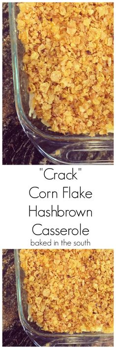 Hashbrown Crack Casserole – Baked in the South Cornflake Hashbrown Casserole<br> This Hashbrown Crack Casserole Recipe is very easy to prepare and at the same time, it is also good for the health. Please continue reading. Fall Dinner Recipes, Beef Recipes For Dinner, Mexican Food Recipes, Cooking Recipes, Dinner Ideas, Supper Ideas, Freezer Cooking, Meal Recipes, Freezer Meals