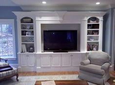 gorgeous white builtin entertainment center | 17,235 Built in Entertainment center with white Home Design Photos