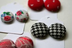 How to make earrings out of vintage buttons. I am going to do this!
