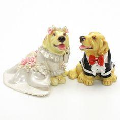 http://stores.ebay.com/madamepOmm-BlueWitch  GOLDEN RETRIEVER CAKE TOPPERS FOR WEDDING DOG LOVER FIGURINE CERAMIC STATUE GIFT.