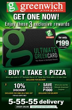 Get the Greenwich Ultimate Greencard to enjoy Exclusive Rewards