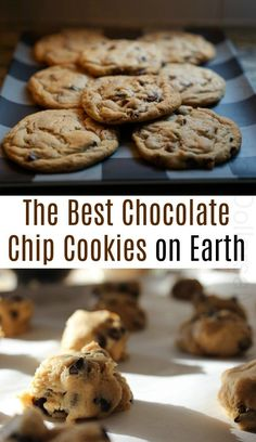 The Best Chocolate Chip Cookies on Earth - Chocolate Chip - Ideas of Chocolate Chip #ChocolateChip -  The Best Chocolate Chip Cookies Cookie Recipes Chocolate Cookies Chocolate Chip Recipes Bake Sale Cookies Idea chocolate