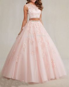 Luxus rosa Perlen A-Line Prom Kleider, zwei Stücke Quinceanera Kleid, ärmellos, Two Piece Quinceanera Dresses, Robes Quinceanera, Prom Dresses Two Piece, A Line Prom Dresses, 15 Dresses, Ball Dresses, Homecoming Dresses, Evening Dresses, Fashion Dresses
