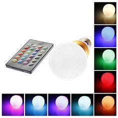 Bombillas LED de Globo Control Remoto G60 E26/E27 5W 1 LM RGB AC 85-265 V 678714 2016 – €6.99