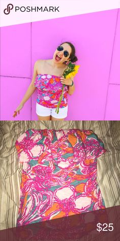 Lilly Pulitzer Tube Top Only worn a few times. Such a cute summer piece. Lilly Pulitzer Tops