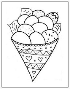 kleurplaten van ijsjes