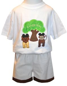 BOY'S ANIMAL KINGDOM Shirt or Outfit with Tree by ChildrensCottage, $27.00