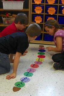 caterpillar rhythms.  Fun way to work on rhythms in a small group