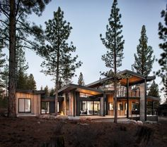 Beautiful butterfly home designed by sagemodern, situated in Martis Camp, California, United States.