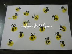 Thumbprint Bees...cute for a Spring project